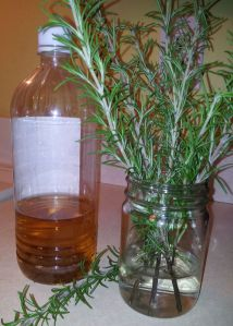 Rosemary and Apple Cider Vinegar (with the mother)